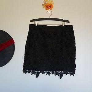 ⚡Flash Sale⚡AE Embroidered Lace Mini Skirt